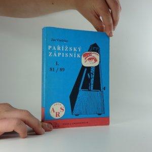 náhled knihy - Pařížský zápisník, Díl I.