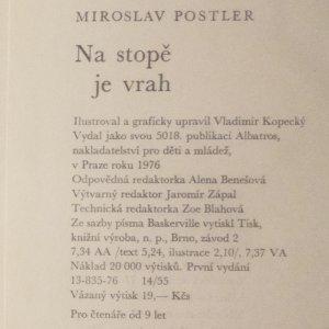 antikvární kniha Na stopě je vrah, 1976