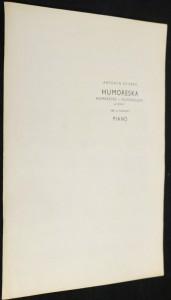 náhled knihy - Humoresky, klavír, op. 101. Č. 7 Humoreska piano : op. 101, No. 7