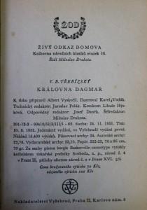 antikvární kniha Královna Dagmar, 1952