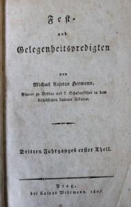 antikvární kniha Fest und Gelegenheitspredigten, 1807