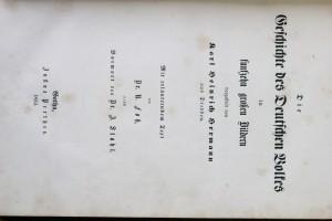 antikvární kniha Die Geschichte des Deutschen Volkes, 1852