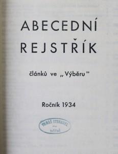 náhled knihy - Abecední rejstřík (1. - 2.)