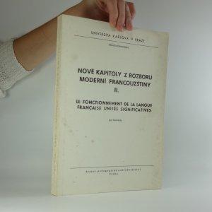 náhled knihy - Nové kapitoly z rozboru moderní francouzštiny II.