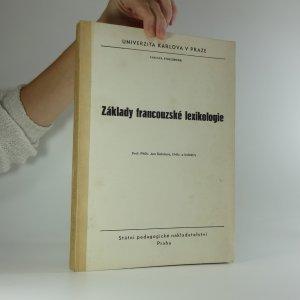 náhled knihy - Základy francouzské lexikologie