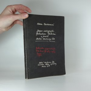 náhled knihy - Soupis autografů Bohuslava Balbína z fondů Státní knihovny ČSR