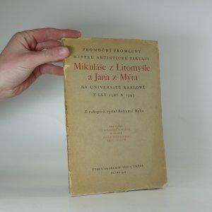 náhled knihy - Promoční promluvy mistrů artistické fakulty Mikuláše z Litomyšle a Jana z Mýta na universitě Karlově z let 1386-1393