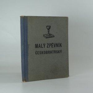 náhled knihy - Malý zpěvník českobratrský