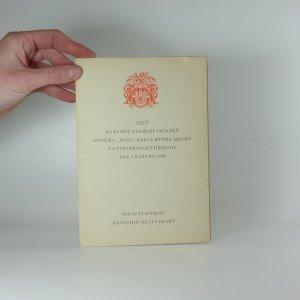 náhled knihy - List na paměť uložení ostatků básníka Karla Hynka Máchy