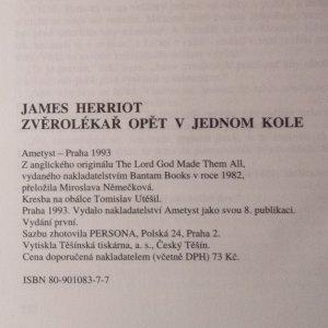 antikvární kniha Zvěrolékař opět v jednom kole, 1993