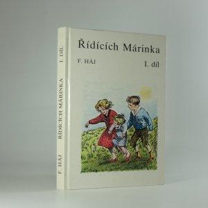 náhled knihy - Řídících Márinka. I. díl