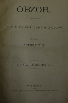 náhled knihy - OBZOR XXIV. ročník. 1902.