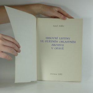 náhled knihy - Erbovní listiny ve státním oblastním archivu v Opavě