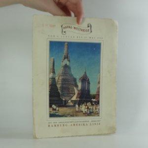 """náhled knihy - Hamburh - Amerika linie reklamní prospekt (Hapag Weltreise mit dem Dreischrauben - Luxusdampfer """"resolute"""
