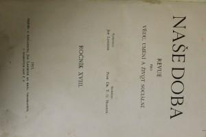 antikvární kniha Naše doba revue pro vědu, umění a život sociální, 1911
