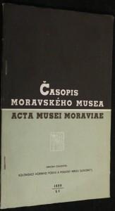 náhled knihy - Časopis moravského musea