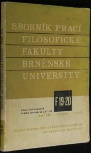 náhled knihy - Sborník prací filosofické fakulty Brněnské university