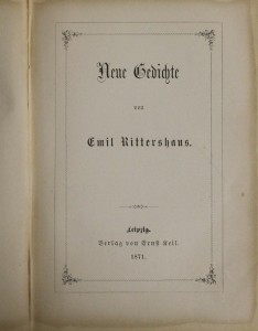 antikvární kniha Neue Gedichte, 1871
