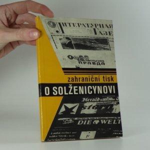 náhled knihy - Zahraniční tisk o Solženicynovi
