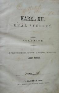 antikvární kniha Karel XII. král švédský , 1874