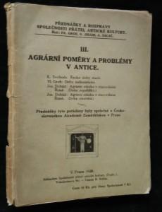 náhled knihy - Agrární poměry a problémy v antic