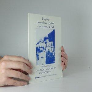 náhled knihy - Dopisy Jaroslava Ježka z podzimu 1938 : a něco navíc o člověku, muzikantovi a kamarádovi-