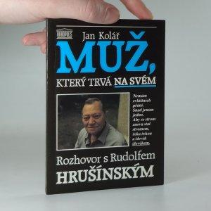 náhled knihy - Muž, který trvá na svém : rozhovor s Rudolfem Hrušínským