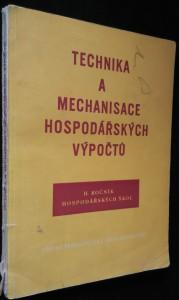 náhled knihy - Technika a mechanisace hospodářských výpočtů : Učební text pro 3. ročník hospodářských škol