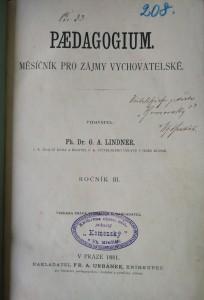 antikvární kniha Paedagogium, ročník 3. , 1881