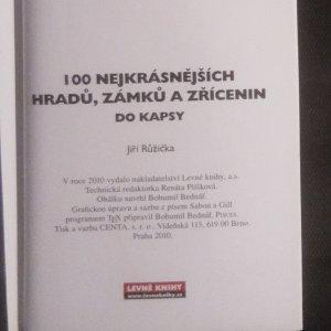antikvární kniha 100 nejkrásnějších hradů, zámků a zřícenin do kapsy, 2010