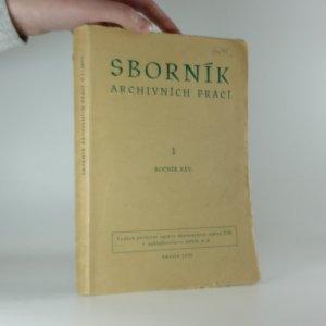 náhled knihy - Sborník archivních prací ročník XXV.