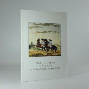 náhled knihy - Národopisná slavnost v Kinského zahradě