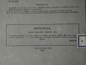 antikvární kniha Príspevok k poznaniu korunovej fauny článkovcov na duboch Slovenska, predevšetkým so zreteľom na rad Lepidoptera, 1962