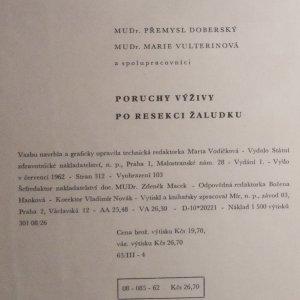 antikvární kniha Poruchy výživy po resekci žaludku : klinika - léčba - prevence, 1962