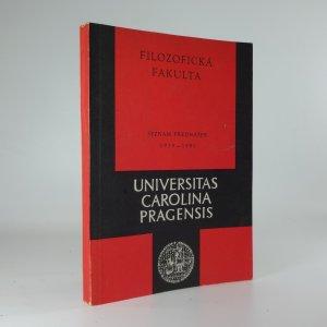 náhled knihy - Universitas Carolina Pragensis: Seznam přednášek na filozofické fakultě ve školním roce 1979/80