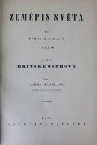 antikvární kniha Britské ostrovy, 1929