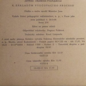 antikvární kniha K základům vyučovacího procesu, 1962
