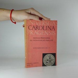 náhled knihy - Seznam přednášek na pedagogické fakultě ve studijním roce 1974-1975