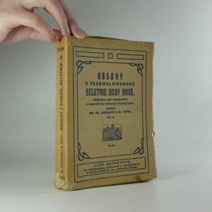 náhled knihy - Obsahy z československé beletrie doby nové, díl IV., příručka pro knihovníky a rukověť pro přehled školské četby