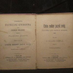 antikvární kniha Ctěte rodný jazyk svůj : povídky pro českou mládež. Část 1, 1905