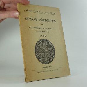 náhled knihy - Seznam přednášek na Filosoficko-historické fakultě v studijním roce 1956-57