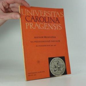 náhled knihy - Seznam přednášek na pedagogické fakultě ve studijním roce 1965-1966