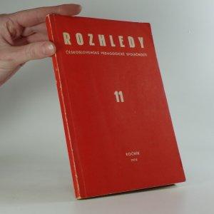náhled knihy - Rozhledy československé pedagogické společnosti 11, ročník 1970