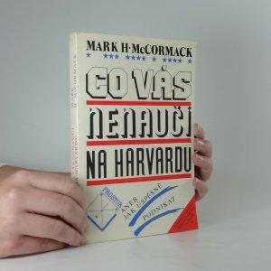 náhled knihy - Co vás nenaučí na harvardu