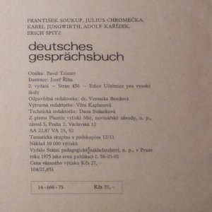 antikvární kniha Deutsches Gesprächsbuch : vysokošk. příručka, 1975