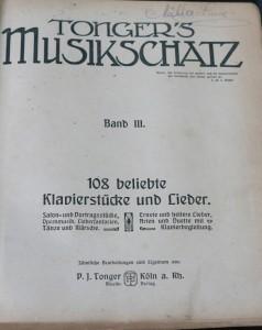 antikvární kniha Tonger's Musikschatz, neuveden