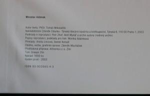 antikvární kniha Miroslav Adámek, 2003