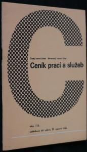 náhled knihy - Ceník prací a služeb obor 715 zakázkové šití oděvů, III. cenová třída