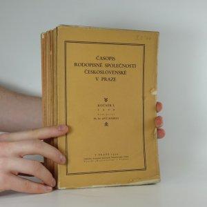 náhled knihy - Časopis rodopisné společnosti československé v Praze (11 svazků, vypsáno v poznámce)