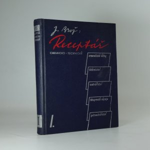 náhled knihy - Receptář chemicko-technický I.